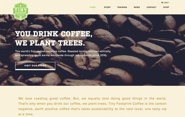 Необычное сочетание текста и изображения в веб-дизайне.