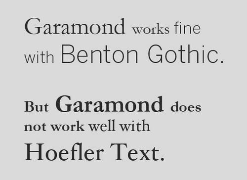 Девять правил сочетания разных видов шрифтов